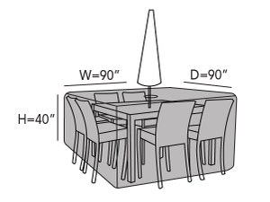 square-patio-table-set-cover-hole-line-drawing-435