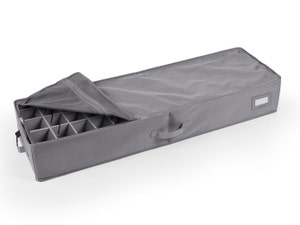 12-48PC Adjustable Underbed Storage Bag - Includes (2) 6 Inch Trays