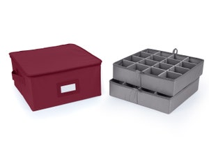 Adjustable Zip-Top Storage Box - Up To 32 Short Compartments