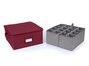 Adjustable Zip-Top Storage Box - Up To 16 Tall Compartments