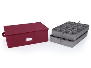 Adjustable Zip-Top Storage Box - Up To 48 Short Compartments