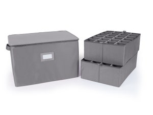Adjustable Zip-Top Storage Box - Up To 48 Tall Compartments