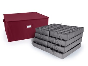 48-192PC Adjustable Zip-Top Storage Box - Includes (8) 3 Inch Trays
