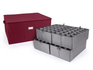 Adjustable Zip-Top Storage Box - Up To 96 Tall Compartments