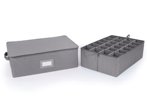 Adjustable Zip-Top Storage Box - Up To 24 Tall Compartments