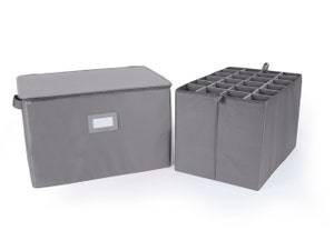 Adjustable Zip-Top Storage Box - Up To 24 XTall Compartments
