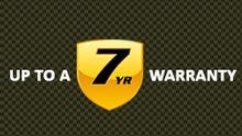 Up to 7 years of warranty coverage