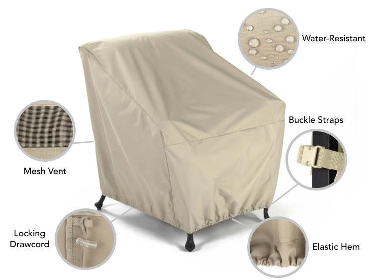Elite chair cover features