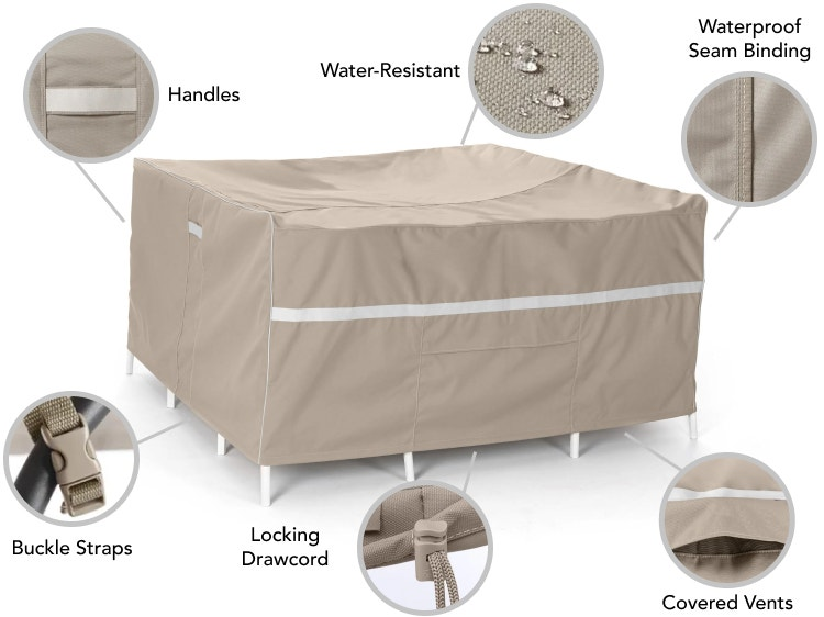 Prestige table cover features