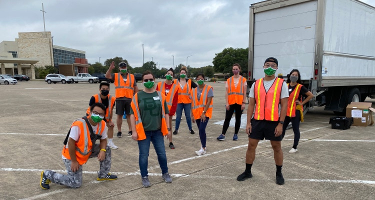 Coverstore team volunteering with the NTFB