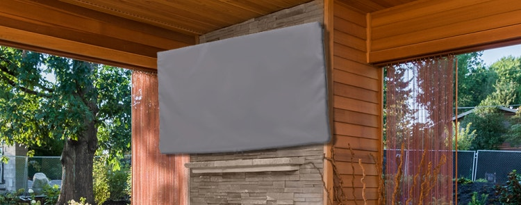 TV mounted on a patio