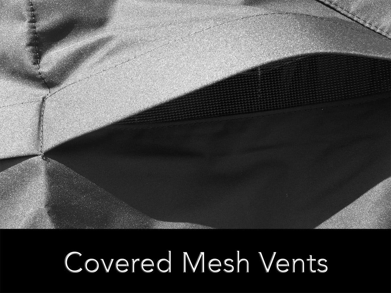 Covered mesh vents