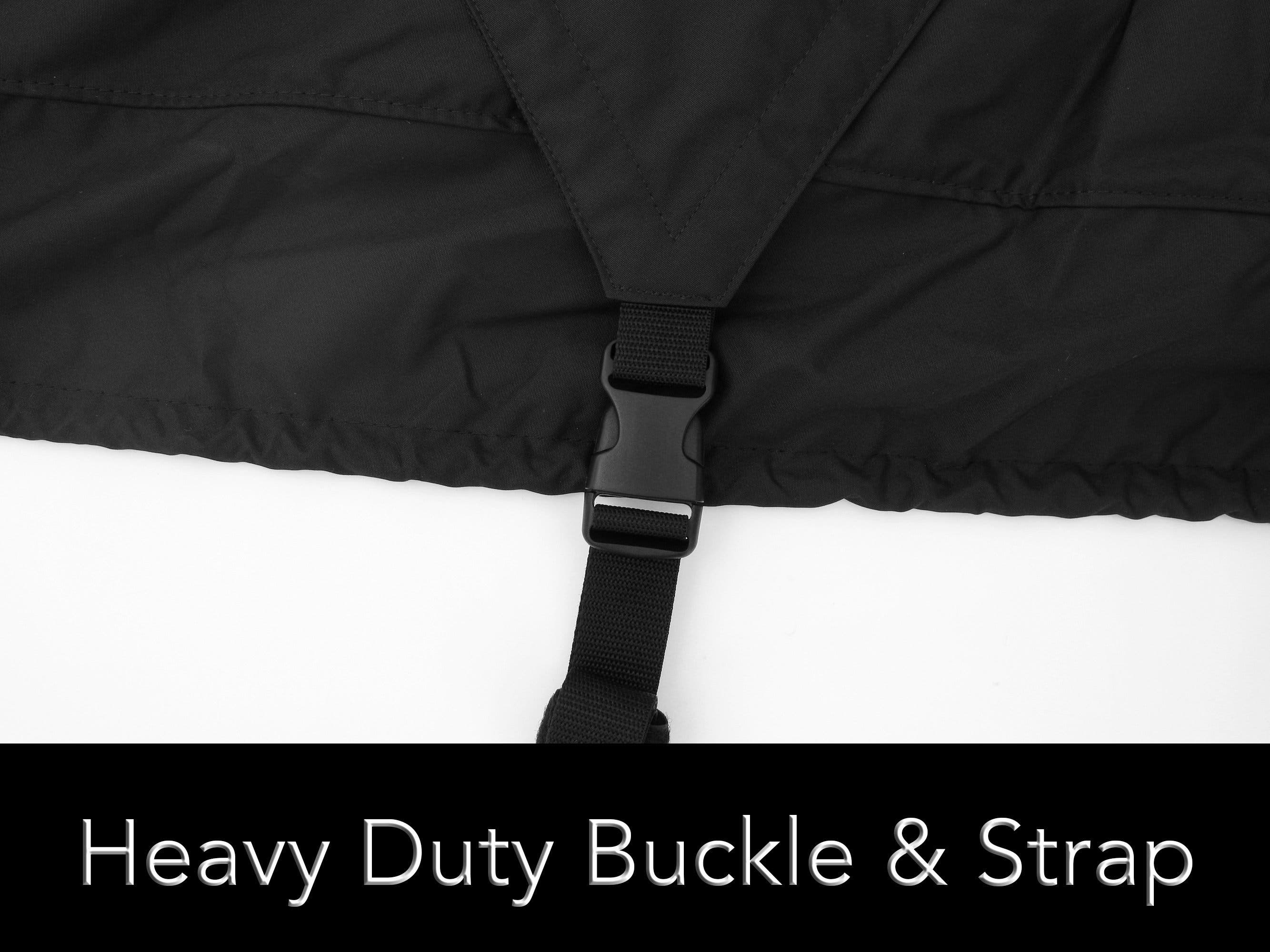 Heavy duty buckle straps