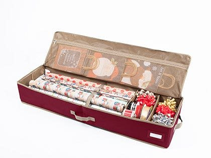 Gift wrap organizers